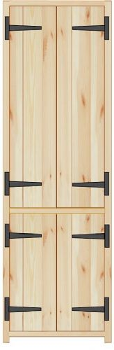 Rustic Farmhouse 600mm Larder Unit with 2 doors